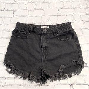 Forever 21 Black Denim Shorts